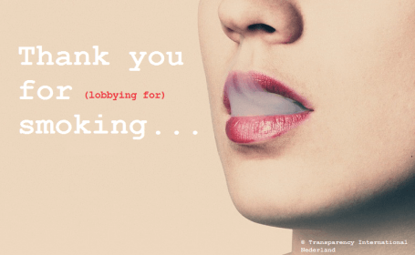 Contact met tabaksindustrie